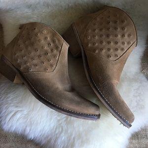 Zara suede studded booties
